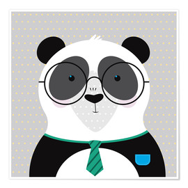 Premium poster Panda with Glasses