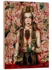 Wood print  The keys of the Savage Garden - Enys Guerrero