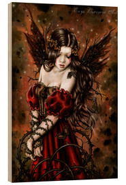 Wood print  Autumn elf with thorns - Enys Guerrero