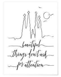 Premium poster Beautiful things art print