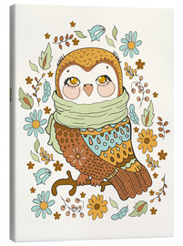 Canvas  Autumn owl - Kidz Collection