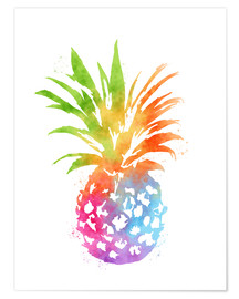 Premium poster  Colorful pineapple - Mod Pop Deco