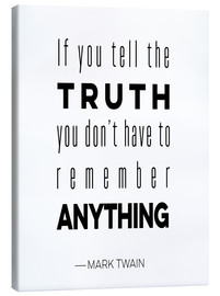 Canvas print  Truth is Anything - Mod Pop Deco