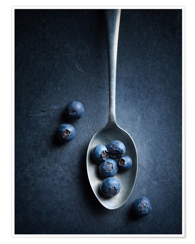 Premium poster Blueberries Still Life top view