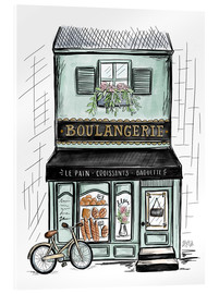 Acrylic glass  French Shop Front - Boulangerie - Lily & Val