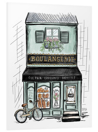 Foam board print  French Shop Front - Boulangerie - Lily & Val