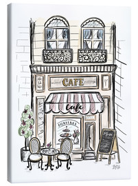 Canvas print  French Shop Front - Café - Lily & Val