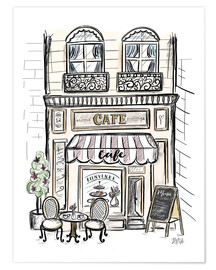 Poster French Shop Front - Café