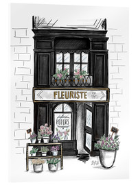 Acrylic glass  French Shop Front - Fleuriste - Lily & Val