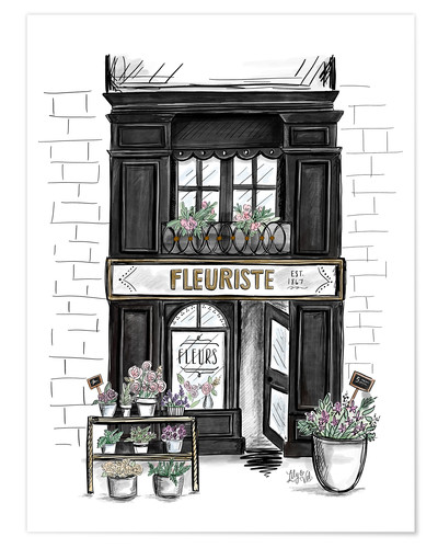 Poster French Shop Front - Fleuriste