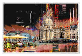 Premium poster  The new old Fauenkirche in Dresden - Peter Roder