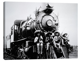 Canvas  Mexican Revolutionaries Take Over a Locomotive at Cuernavaca