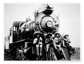 Premium poster Mexican Revolutionaries Take Over a Locomotive at Cuernavaca