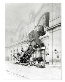 Premium poster Train accident at the Gare Montparnasse in Paris on 22nd October 1895