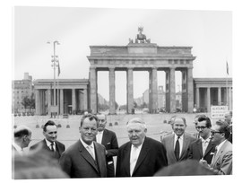 Acrylic print  Ludwig Erhard and Willy Brandt