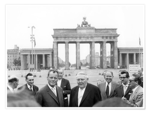 Premium poster Ludwig Erhard and Willy Brandt