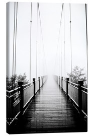 Canvas print  Wooden bridge in fog