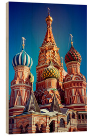 Wood print  St. Basil's Cathedral, Russia