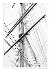 Premium poster  Detail view of a sailboat mast