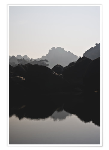 Premium poster River in Hampi India