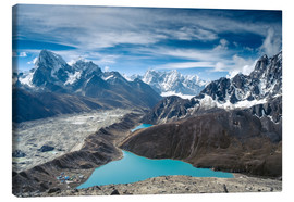 Canvas  Mountains with lake in the Himalayas, Nepal