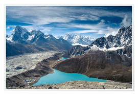 Poster  Mountains with lake in the Himalayas, Nepal