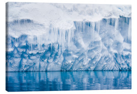 Canvas print  Reflection of a glacier with icicles