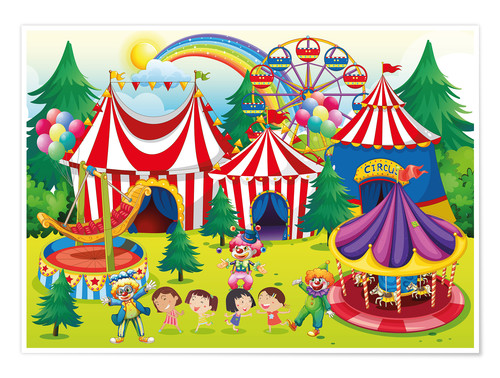 Premium poster Colorful circus