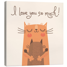 Canvas  Cats love - Kidz Collection
