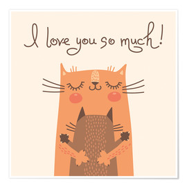 Poster  Cats love - Kidz Collection