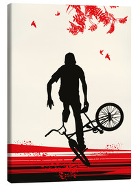 Canvas print  BMX in autumn