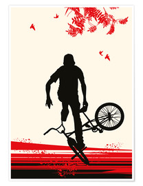 Premium poster  BMX in autumn