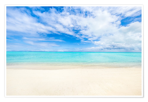 Premium poster Crystal clear water on a beach in the South Pacific, Fiji islands