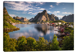 Canvas  Fishing village in the Lofoten Islands, Norway - Dennis Fischer