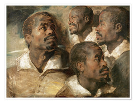 Premium poster Four Studies of a Head of a Man