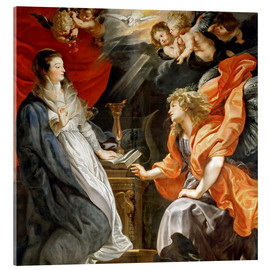 Acrylic glass  Annunciation to Mary - Peter Paul Rubens