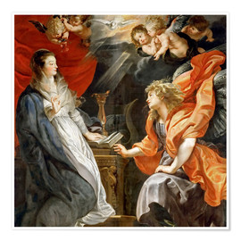 Premium poster  Annunciation to Mary - Peter Paul Rubens