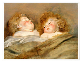 Premium poster Two Sleeping Children