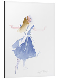 Aluminium print  Alice in Profile - Lesley Fotherby