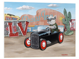 Foam board print  Las Vegas Hot Rod Frenchie - Macsorro
