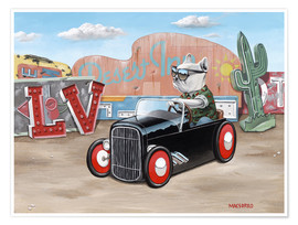 Premium poster  Las Vegas Hot Rod Frenchie - Macsorro