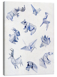 Canvas  Origami animals - Jennifer McLennan