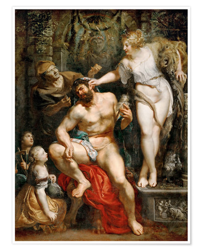 Premium poster Hercules and Omphale