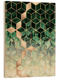 Wood  Leaves and cubes - Elisabeth Fredriksson