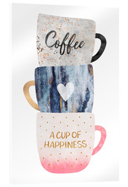 Acrylic glass  A cup of happiness - Elisabeth Fredriksson