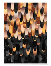 Premium poster Feathered Copper And Black
