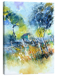 Canvas print  The fence at the meadow - Pol Ledent