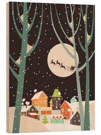 Wood print  Christmas Night - Kidz Collection