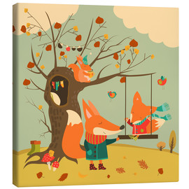 Canvas  Swingin' in the autumn wind - Kidz Collection