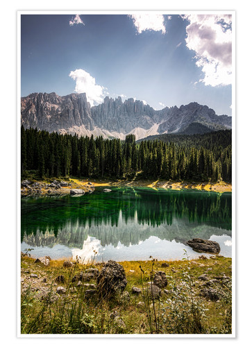 Premium poster Lake Carezza - Karersee
